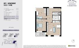 Apartment, 3+kk, 3<sup>th</sup> Floor, 72.3 m<sup>2</sup>