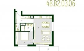 Atelier, 2+kk, 3. NP, 68.7 m<sup>2</sup>