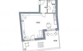 Atelier, 1+kk, 1. NP, 45.8 m<sup>2</sup>