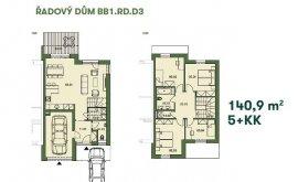 Řadový dům, 5+kk, 141.4 m<sup>2</sup>