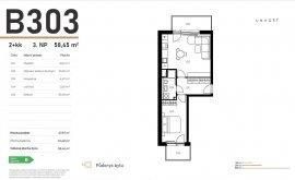 Apartment, 2+kk, 3<sup>th</sup> Floor, 48.0 m<sup>2</sup>
