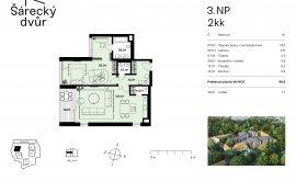 Apartment, 2+kk, 3<sup>th</sup> Floor, 89.0 m<sup>2</sup>
