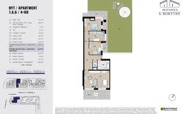 Apartment, 4+kk, 1<sup>st</sup> Floor, 90.0 m<sup>2</sup>