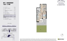 Apartment, 2+kk, 1<sup>st</sup> Floor, 64.1 m<sup>2</sup>