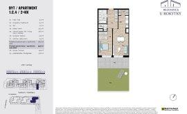 Apartment, 2+kk, 1<sup>st</sup> Floor, 58.5 m<sup>2</sup>