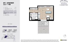 Apartment, 1+kk, 2<sup>nd</sup> Floor, 33.2 m<sup>2</sup>