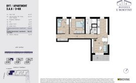 Apartment, 3+kk, 3<sup>th</sup> Floor, 67.0 m<sup>2</sup>